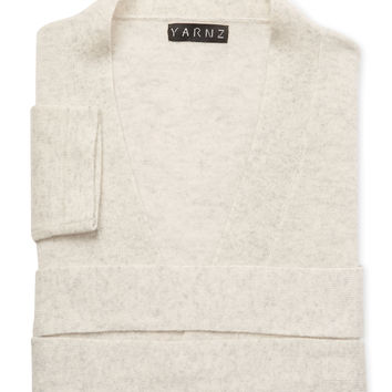 Yarnz Cashmere Knit Robe - Light/Pastel Grey