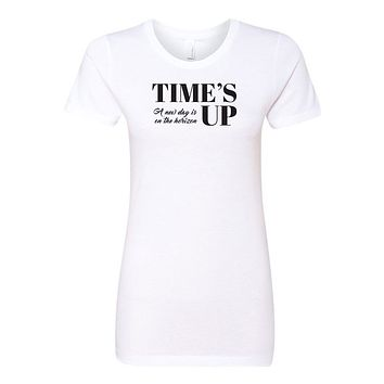 Time's Up - A New Day is on the Horizon Ladies' Boyfriend T-Shirt