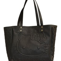 """Hello Kitty"" Quilted Tote by Loungefly (Black)"