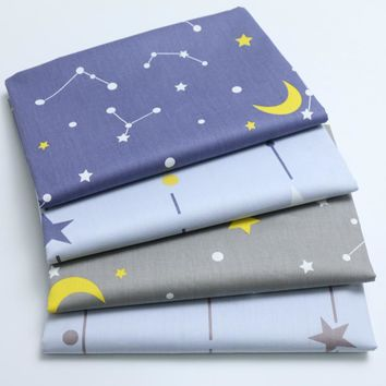 Star Moon New Twill Printed Cotton Fabric DIY Sew Crib Bedding Patchwork Cushion Quilting Kids Home Decor Cloth Tissus Tilda