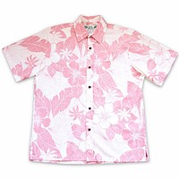 island zest reverse print hawaiian cotton shirt