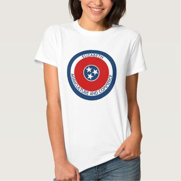 Tennessee The Volunteer State Personalized Flag Shirts