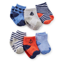 6-Pack Nautical Socks