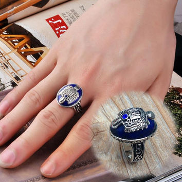 Size 17 Movie The Vampire Diaries Vintage Damon Stefan Salvatore Sun Family Crest Rings Drop Shipping RING-0161
