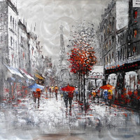Modrest Raining In Paris Oil Painting VGSHD-ADD0354