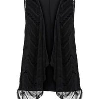 Avenue Plus Size Sleeveless Crochet Vest $40.00