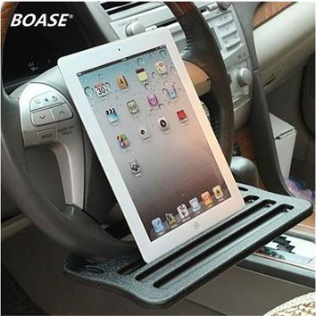 Free Shipping - Most Durable Auto iPad Standing Support Dining table Clip Steering wheel Multi-functional Tray