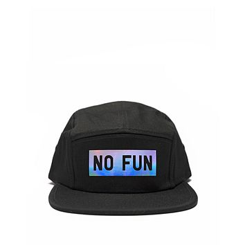 No Fun 5 Panel Hat - Holographic