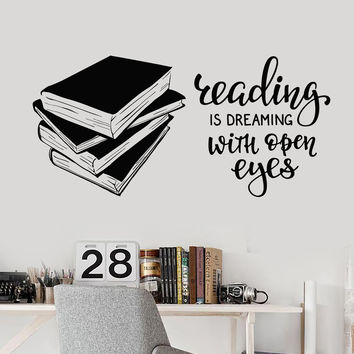 Vinyl Wall Decal Books Quote Reading Room Library Book Shop Stickers Unique Gift (ig4847)