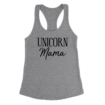Unicorn mom tank, funny v neck shirt, gift for mom, mommy  Ladies Racerback Tank Top