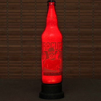 Rogue Ale Hazelnut 24oz LED Beer Bottle Lamp Night Light Bar Man Cave Pub