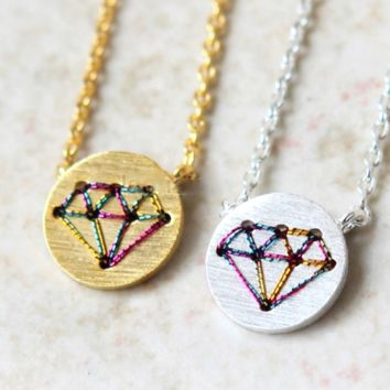 Stitched Diamond Necklace