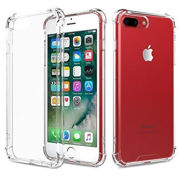 MoKo Case for iPhone 7 Plus - Shock Absorption Flexible TPU Bumper Anti-Scratch Rigid Slim Protective Cases Clear Back Cover for iPhone 7 Plus, Crystal Clear