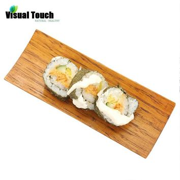 Visual Touch 18*7cm Wooden Tray Japanese Sushi Sashimi Wood Rectangular Wooden Dish Plate Snack Tray Dried Fruit Plates