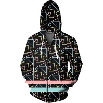 80s Bars Zip Up Hoodie