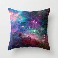 galaxy Throw Pillow by Hadeel Alharbi
