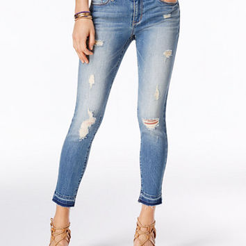 American Rag Ripped Rockaway Wash Skinny Jeans, Only at Macy's - Juniors Jeans - Macy's