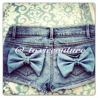 Low Rise Bow Shorts