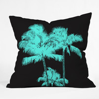 Deb Haugen turquoise palms Throw Pillow
