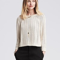 Banana Republic Womens Open Stitch Pullover