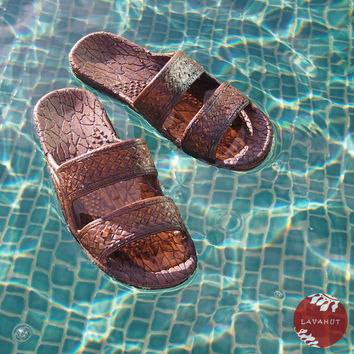 Dark Brown Jandals - Pali Hawaii - Hawaiian Jesus Sandals