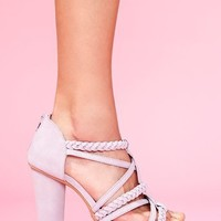 Braided Strap Platform - Lilac in Shoes at Nasty Gal
