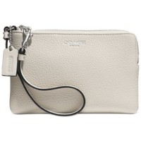 COACH BLEECKER SMALL WRISTLET IN PEBBLED LEATHER - COACH - Handbags & Accessories - Macy's
