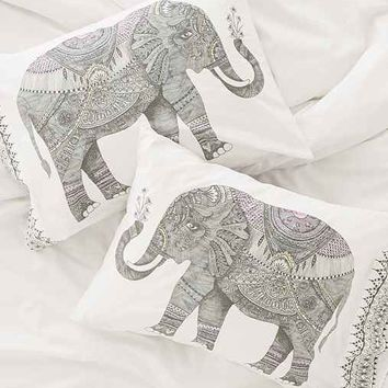 Magical Thinking Garden Elephant Pillowcase Set