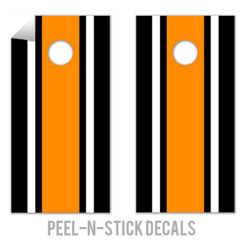 Classic Stripe - Black, White, Orange Decals