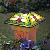 Dragonfly Solar Power Post Cap Light Fits 4X4 Deck Post Porch Patio Pool Lights