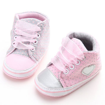 Newest Newborn Baby Girls Princess Spring First Walkers Sneakers Casual Infant Toddler Shoes
