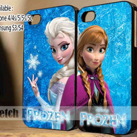 Disney Frozen Anna and Elsa Couple Case Love design iPhone Case And Samsung Galaxy Case