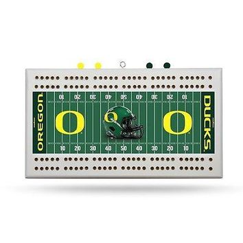 Oregon Ducks NCAA Licensed 2 Track Cribbage Board FREE US SHIPPING