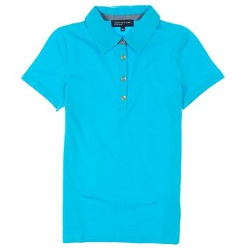 Jones New York Signature Womens Short Sleeve Polo Shirt