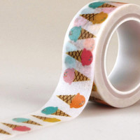 Ice Cream Washi Tape, Planner Washi Tape, Journaling Spot, Chugoku Tape, Paper Tape, Planner Decoration, Planner Sticker, Scrapbook Tape