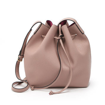 Mansur Gavriel Bucket bag women Pu Leather String Shoulder bag Luxury Bags Famous Designer no Logo printed