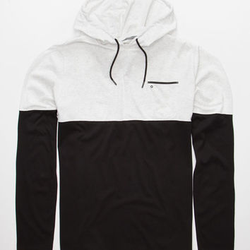 Hurley Dri-Fit Adams Mens Lightweight Hoodie White/Black  In Sizes