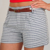 All Bands On Deck Shorts: Gray/Ivory