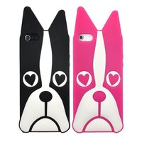 Heart Eyes Dog Soft Case For iPhone 5