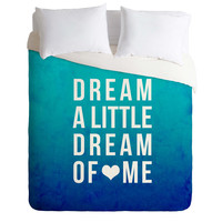 Leah Flores Dream Blue Duvet Cover