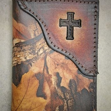 Christian Cross Trifold wallet, cross wallet, Name, Initials, or Bible Verse engraved Free!