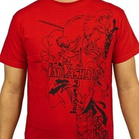 Official InuYasha Group Tee, Red, by Viz Media (Large)