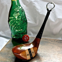 Golf Club Bottle Openers - Burke Persimmons 4 Wood  -- Golf Gift