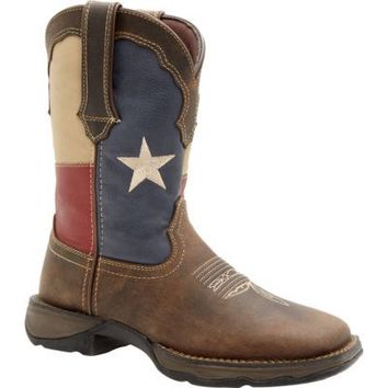 Durango Lady Rebel 10 in. Pull-On Texas Flag Boot