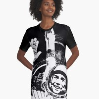 'The Day of Cosmonautics' Graphic T-Shirt Dress by truthtopower