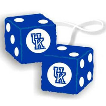 Kentucky Wildcats NCAA 3 Car Fuzzy Dice
