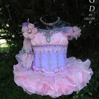 High Glitz National Beauty Pageant Dress  NEW Made By Crowning Glory Designs