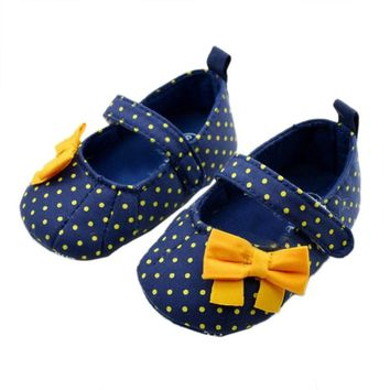 Girls Toddler First Walkers Soft Sole Hot Blue Color Mary Jane Baby Shoes HOT SALE
