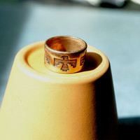 Copper Native American Inspired Ring