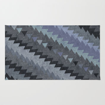 triangles grey pattern Area & Throw Rug by spinL
